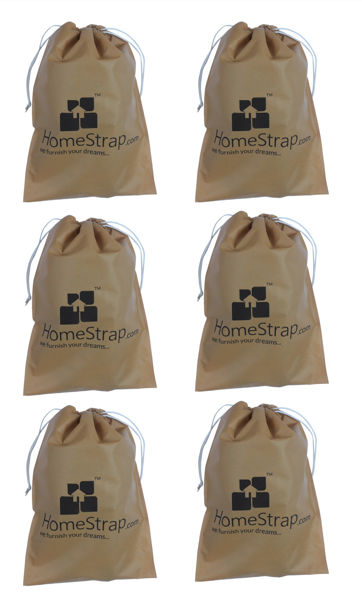 Picture of Hometrap™ Shoe Pouch/ Bag/ Organiser - Beige - Set of 6