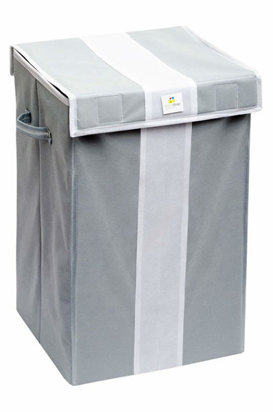 Picture of Foldable Laundry Bag (Grey & White)