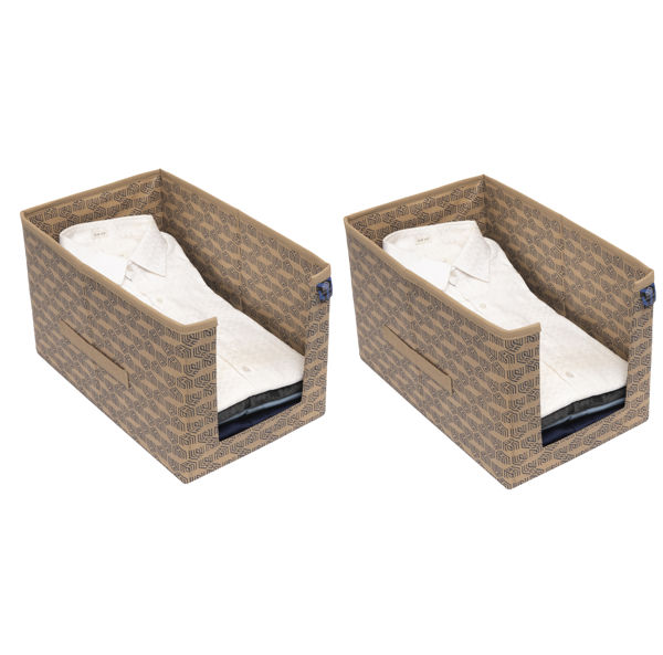 Picture of HomeStrap Printed Shirt Stacker/Organizer - Beige Pack of 2