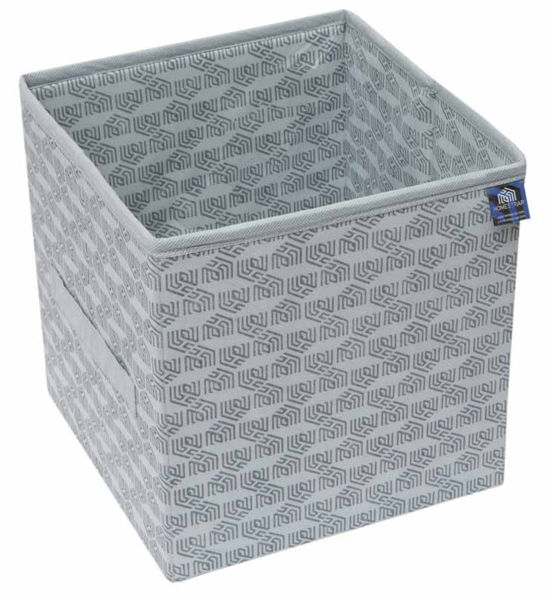Picture of HomeStrap Premium Multi-utility Foldable Storage Cube/Files/Toys/Newspaper/Cloths Organise Box- Grey (Pack of 1)