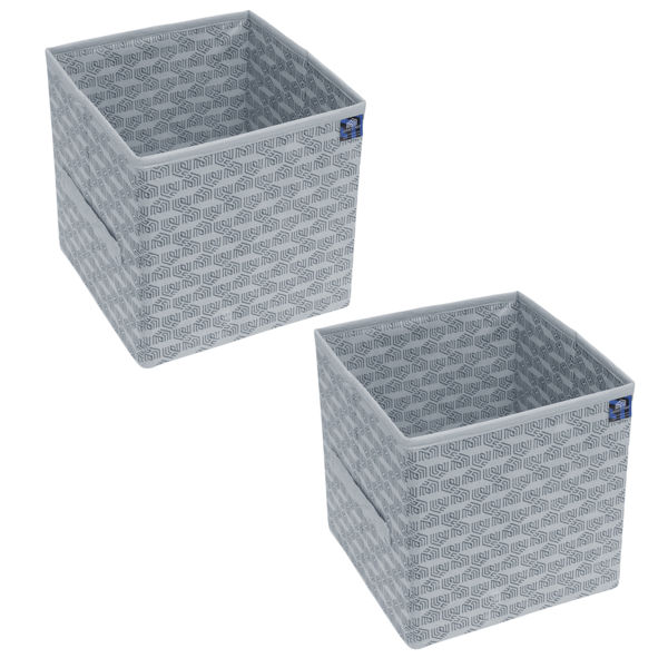Picture of HomeStrap Premium Multi-utility Foldable Storage Cube/Files/Toys/Newspaper/Cloths Organise Box- Grey (Pack of 2)