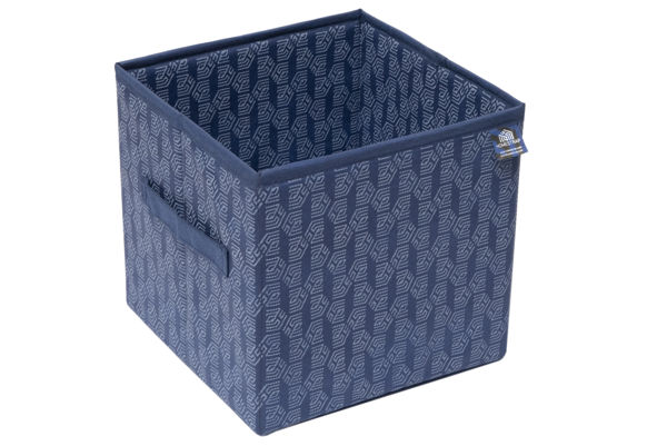Picture of HomeStrap Premium Multi-utility Foldable Storage Cube/Files/Toys/Newspaper/Cloths Organise Box- Navy Blue (Pack of 1)